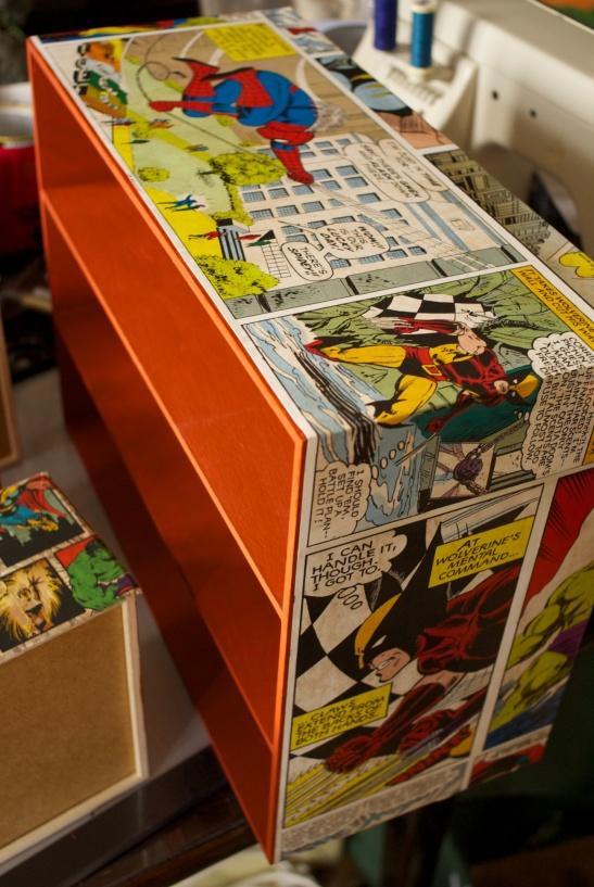 superhero decoupage storage